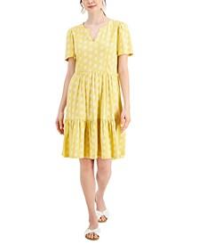 Petite Split-Neck Knit Dress, Created for Macy's