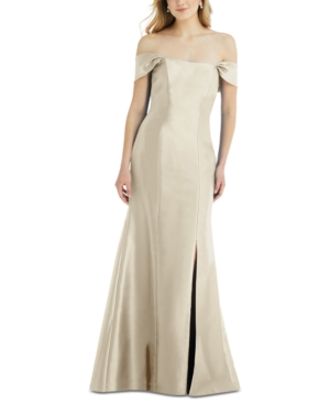 Bow-Back Off-The-Shoulder Gown