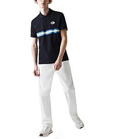 Men's Heritage Regular-Fit Stripe Piqué Polo Shirt