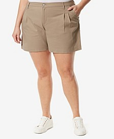 Plus Size Pleated Short
