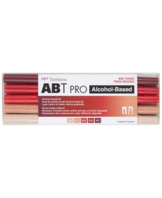 Tombow Abt Pro Alcohol-Based Art Markers, 5-Pack