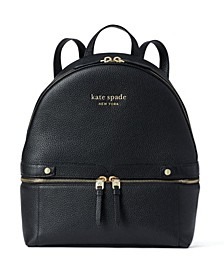 The Day Pack Medium Leather Backpack