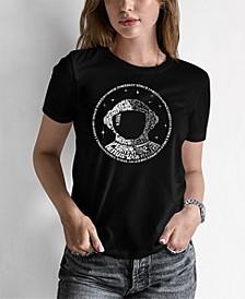 Women's Junior's Word Art I Need My Space Astronaut T-Shirt