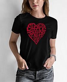 Women's Word Art Crazy Little Thing Called Love T-Shirt
