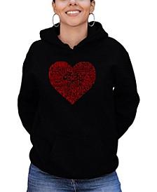Women's Word Art Country Music Heart Hooded Sweatshirt