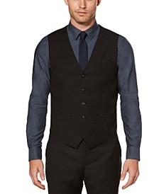 Men's Big and Tall Solid Sharkskin Suit Vest
