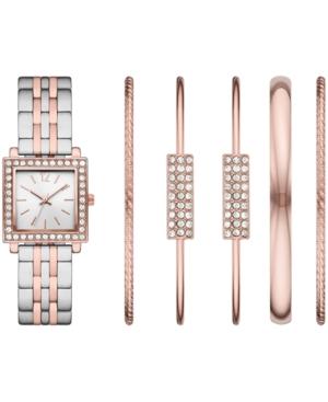 Women's Two-Tone Bracelet Watch 28mm Gift Set