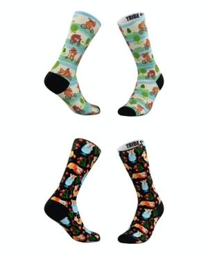 Tribe Socks Socks MEN'S AND WOMEN'S PLAYFUL CORGIS AND BEARS SOCKS, SET OF 2