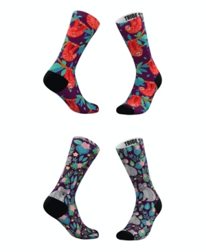 Tribe Socks Socks MEN'S AND WOMEN'S SLOTH AND KOALA SOCKS, SET OF 2