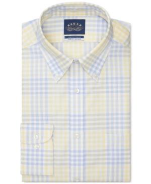 Men's Tattersall Stretch-Collar Dress Shirt