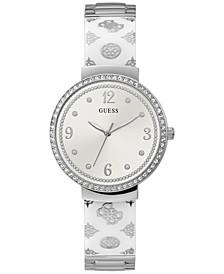 Women's Silver-Tone Embellished Bracelet Watch 36mm