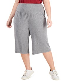 Plus Size High-Waist Culottes, Created for Macy's