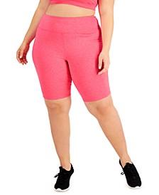 Plus Size Sweat Set Bike Shorts, Created for Macy's