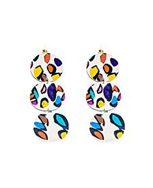 Leopard Dangle Earrings