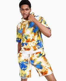 Men's Tie-Dye Paint Short-Sleeve Hoodie