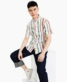 Men's Greg Regular-Fit Shibori Stripe Shirt, Created for Macy's