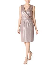 Liquid-Mesh V-Neck Shift Dress