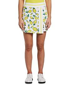 Women's Lemon-Print Golf Skort