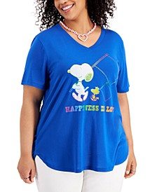 Plus Trendy Snoopy Graphic T-Shirt