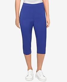 Petite Savannah Allure Stretch Slim-Fit Capri Pants