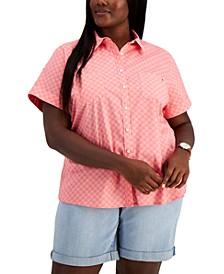 Plus Size Daisy Camp Shirt