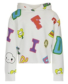 Big Girls Friends with You Collaboration Allover Logo Print French Terry Hoodie