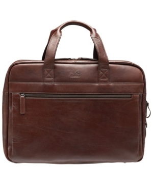"""Beverly Hills Collection Men's Double Compartment Briefcase with Rfid Secure Pocket for 15.6"""" Laptop and Tablet"""