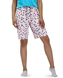 Women's Printed Bermuda Pajama Shorts
