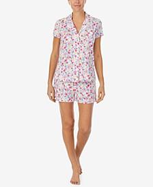 Printed Knit Shorts Pajama Set