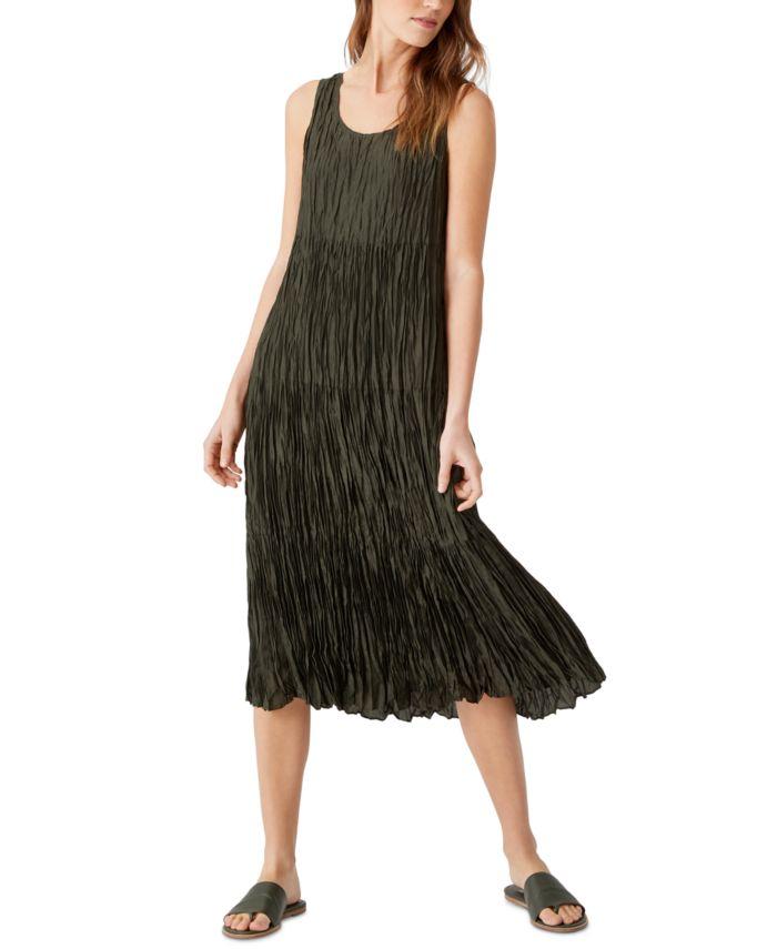 Eileen Fisher Silk Tiered Dress & Reviews - Dresses - Women - Macy's