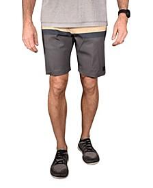 Men's Stripe Print Flat Front Gurkha Shorts