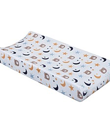 Goodnight Sleep Tight Bear, Moon and Star Super Soft Changing Pad Cover