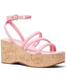 Hazel Ankle-Strap Wedge Sandals