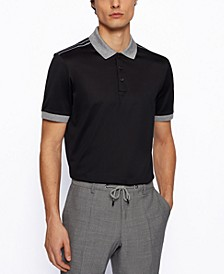 BOSS Men's Mercerized-Cotton Polo Shirt