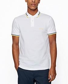 BOSS Men's Curved Logo Slim-Fit Polo Shirt