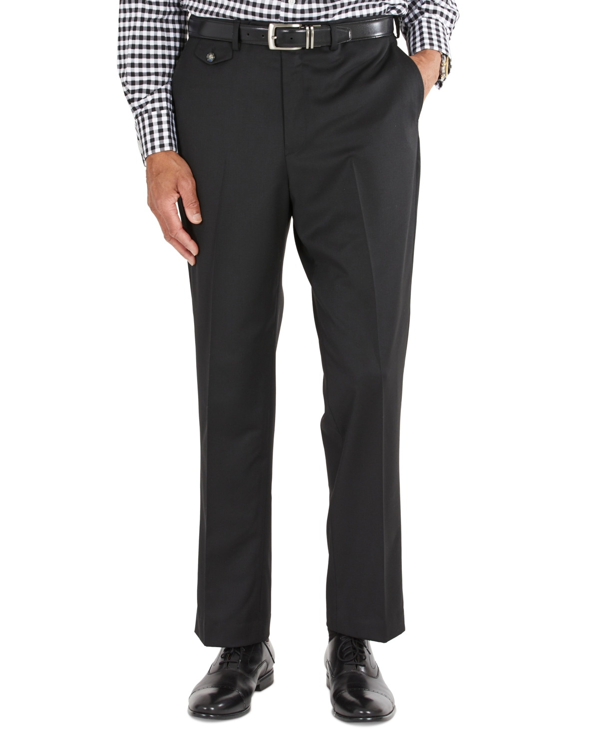 1960s Men's Clothing Tayion Collection Mens Classic-Fit Solid Black Suit Separates Pants $175.00 AT vintagedancer.com