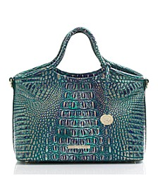 Small Elaine Melbourne Embossed Leather Crossbody