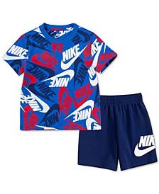Baby Boys 2-Pc. Sportswear Toss T-Shirt & Shorts Set