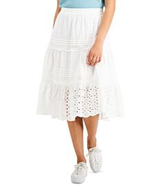Eyelet Pull-On Maxi Skirt, Created for Macy's