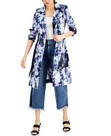 INC Tie-Dyed Trench Coat, Created for Macy's