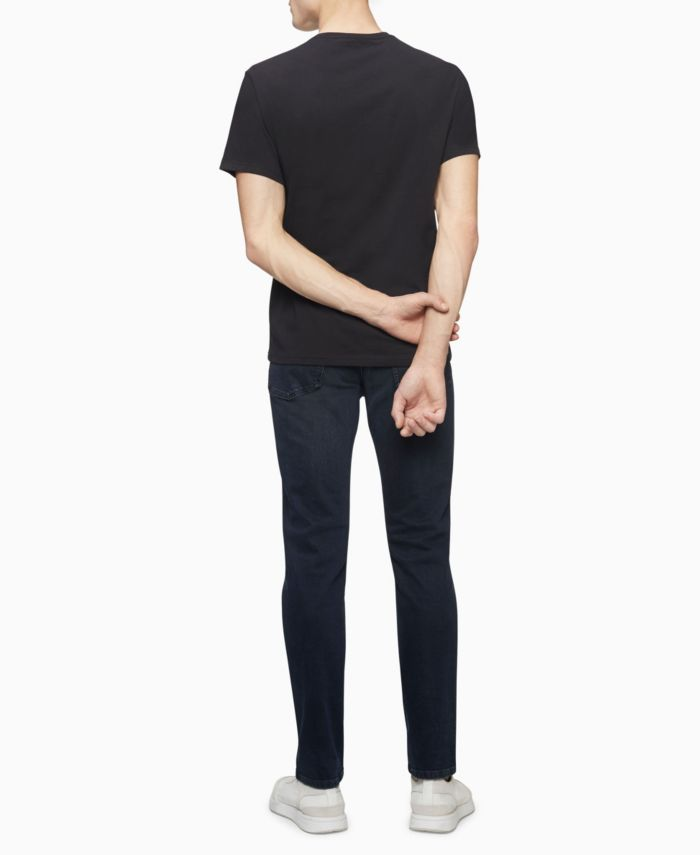 Calvin Klein Men's Foil NYC Logo Crewneck T-shirt & Reviews - T-Shirts - Men - Macy's