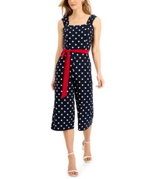 Polka Dot Cropped Jumpsuit