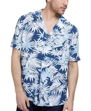 Men's Palm Print Button-Front Shirt