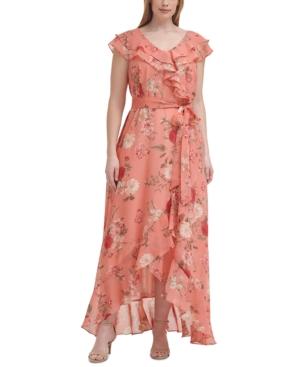 Plus Size Ruffled Floral-Print Dress