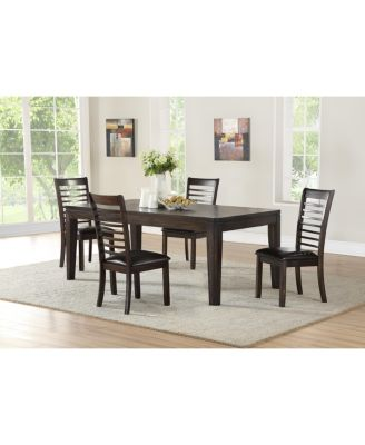 Ally Dining 5-Pc Set ( Table, + 4 Side Chairs)