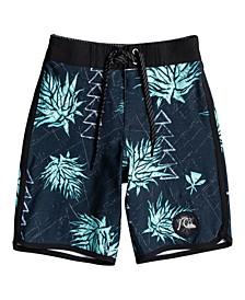 Little Boys Surf Silk Hawaii Scallop Board Shorts