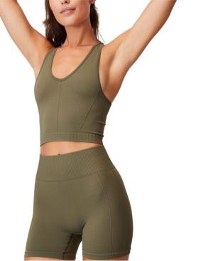 Cotton On Shorts WOMEN'S LIFESTYLE RIB SEAMLESS SHORTIE SHORTS