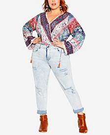 Plus Size Angel Heart Bodysuit Top