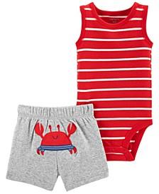 Baby Boys Crab Bodysuit Short, 2 Piece Set