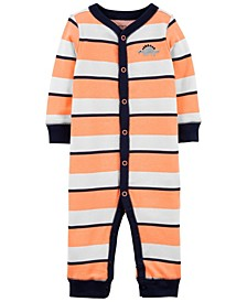 Baby Boys Striped Snap-Up Cotton Footless Sleep Play